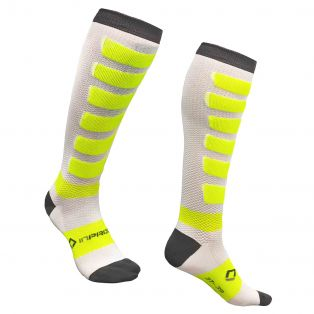 Compression Extralight socks White/Anthracite/Fluo Yellow