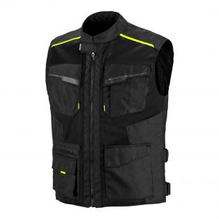 Airtour motorcycle vest Black/Fluo Yellow