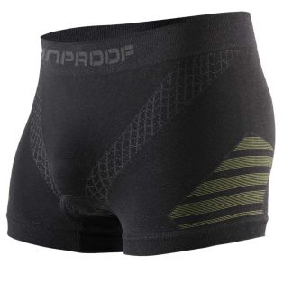 4 Seasons boxer shorts with pad Black/Fluo Yellow