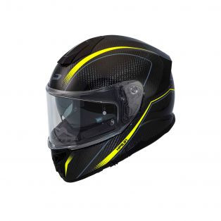 100% Carbon Full face helmet HP5.91 Profile Fluo Yellow