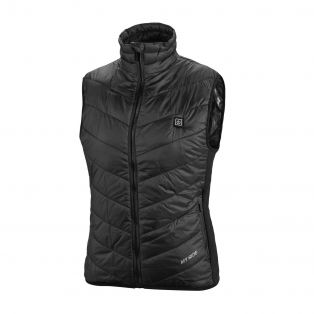 Thermo fire lady quilted heated vest Black+