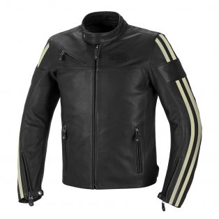 Cult leather motorcycle jacket Black/Ice