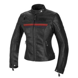 Cult Lady leather motorcycle jacket for women Black/Blue/Red