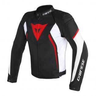 Avro D2 fabric motorcycle jacket Black/White/Red