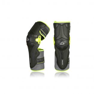 X-Strong Knee Guards Black/Fluo Yellow