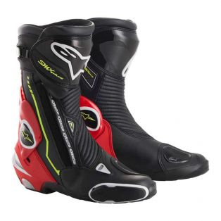 SMX Plus Boots Black/Red Fluo/Yellow Fluo