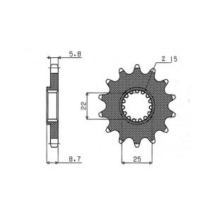 Front Sprocket 520 Pitch 13 Teeth - KTM Offroad