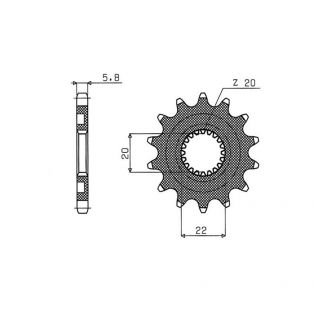 Front Sprocket 520 Pitch 13 Teeth - YAMAHA