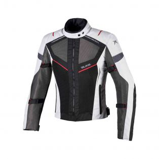 Airtour Aqvadry Motorbike summer jacket for Ladies Ice/Anthracite/Black