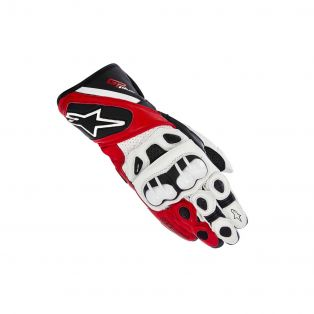 Gp Plus Gloves CE White/Black/Red