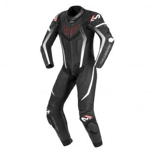 MKGP motorcycle riding suit - Certified AAA Black/Black/White