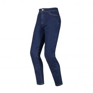 Motorcycle trousers Jeggings Evo for ladies Indigo Blue
