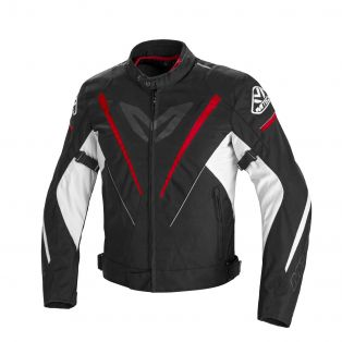 Fuel Motorcycle jacket Black/Red White