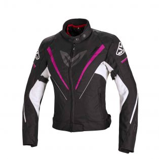 Motorcycle Jacket Fuel Black/Fuchsia/White