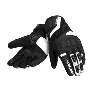 Tempest Motorcycle gloves White/Black/White