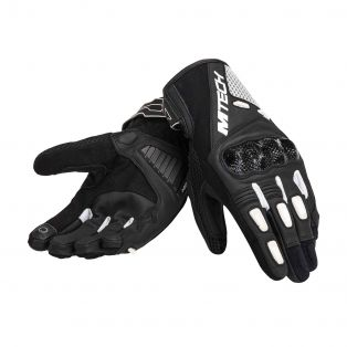 Falcon motorcycle gloves Black/Black/White