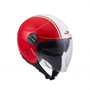 Open-face helmet HP3.61 Line Glossy Red/White