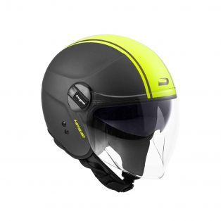 Open-face helmet HP3.61 Line Matt Titanium/Yellow