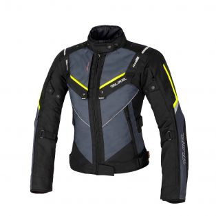Overtrack women's motorcycle jacket Black/Anthra/Fluo Yellow
