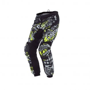 ELEMENT ATTACK CROSS PANTS For kids Black/Fluo Yellow