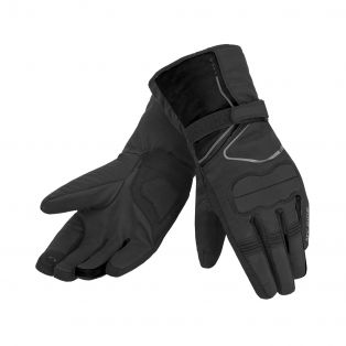 Starsky WP motorcycle gloves for ladies Black/Black