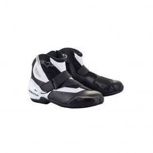 SMX-1 R V2 Vented motorcycle ankle boots Black/White